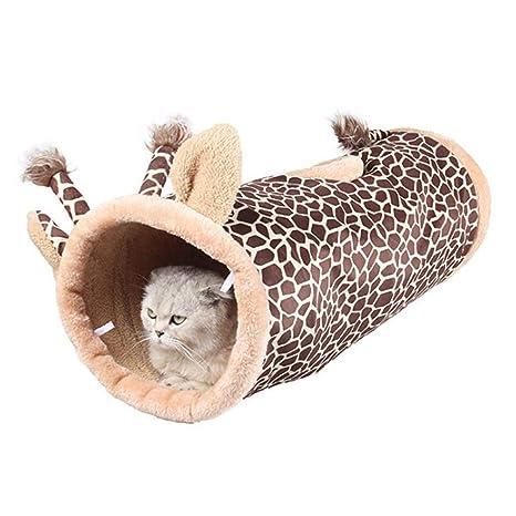 Niocase Juguete del Gato Túneles para Gatos, Cómodo Plegable Lindo Juguete Interactivo con Agujero para
