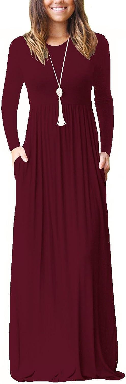 TALLA XL. Dasbayla - Camiseta de Manga Larga - Clásico. - Manga Larga - para Mujer 0-wine Red XL