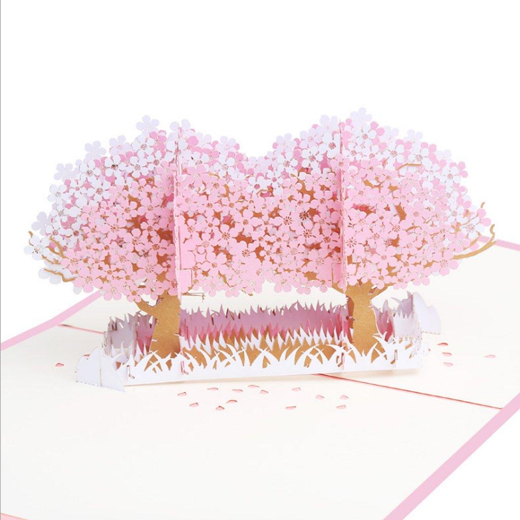 motivo floreale Biglietto tridimensionale con motivo a nido dape