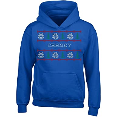 51016a495fce77 Amazon.com: Chaney Name Ugly Christmas Sweater - Girl Girls Hoodie ...