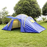 GOPLUS 4-5 Person/Man Waterproof Camp 2+1 Room Hiking Camping Tunnel Family Tent
