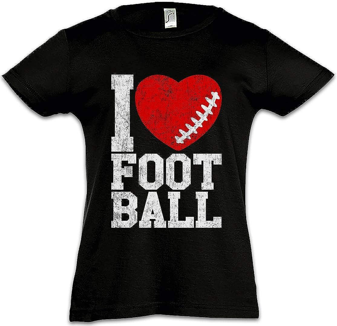 I Love Football III Kids Girls Children T-Shirt