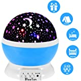Starry Night Light Lamp, SlowTon Romantic 3 Modes Colorful LED Moon Sky Star Dreamer Desk Rotating Cosmos Starlight Projector for Children Kids Baby Bedroom