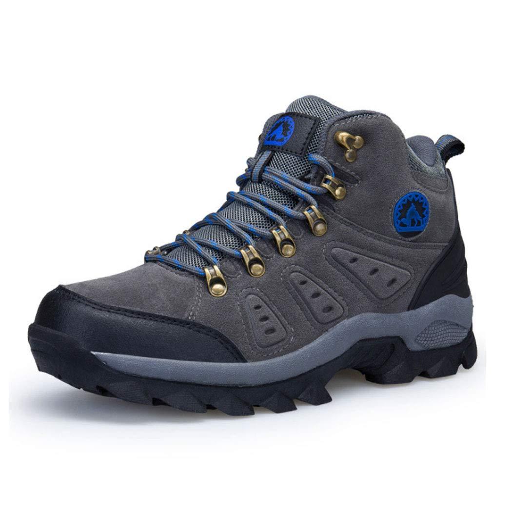 HYLFF Männer Outdoor-Wanderschuhe Wandern warme KnöchelStiefel Slip tragen Turnschuhe Schuhe Outdoor-Abenteuer Freizeitreise Schuhe große Größe