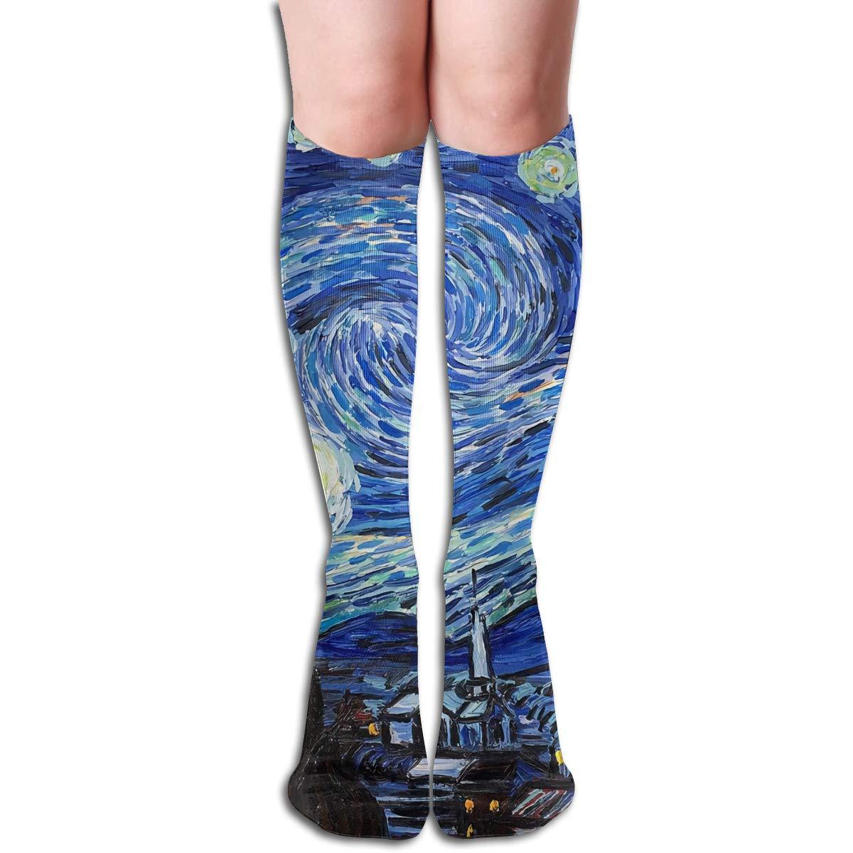 MSONNET - Calcetines cálidos de Invierno con diseño de Van Gogh: Amazon.es: Hogar