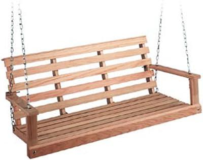 Beecham Swing Co. Flatbottom Oak Porch Swing