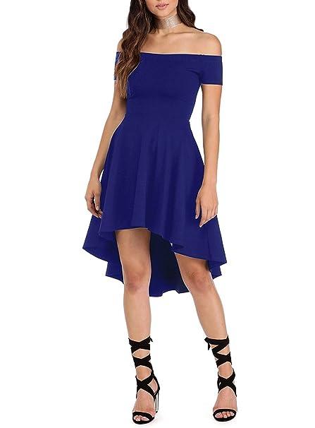 873f10a60 Vestido para Mujer Corto Largo Skater Moderno Sin Hombros  Amazon.es  Ropa  y accesorios