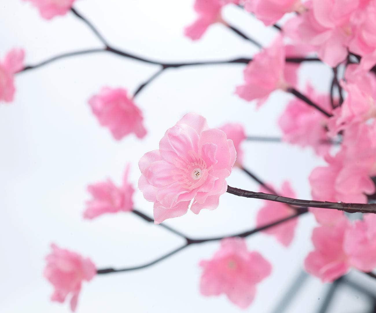 Luminea Arbre /à LED Cerisier 150 cm avec 384 fleurs lumineuses blanc chaud IP44