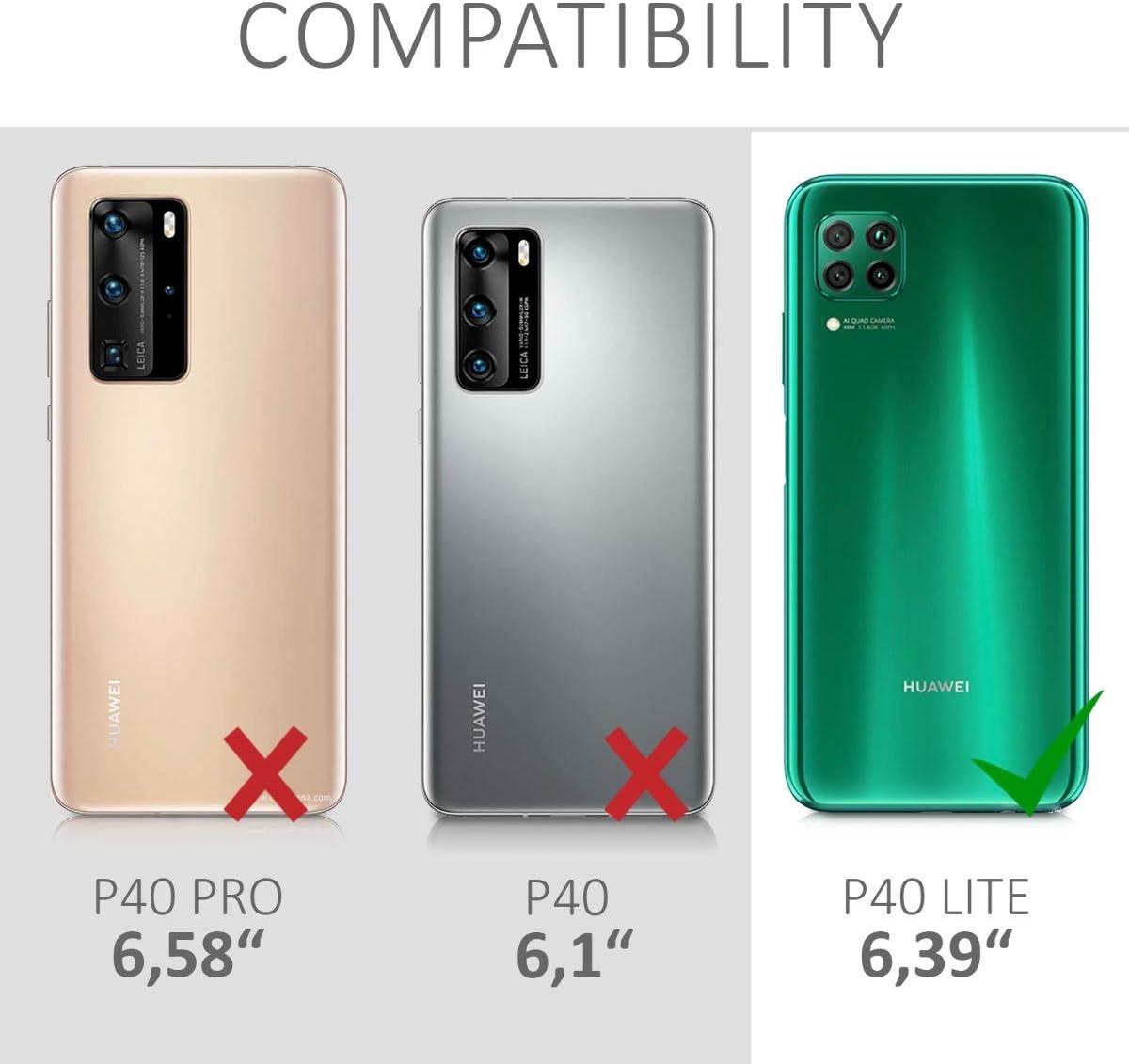 kwmobile Funda Compatible con Huawei P40 Lite Protector Trasero en Lila Carcasa de TPU Silicona