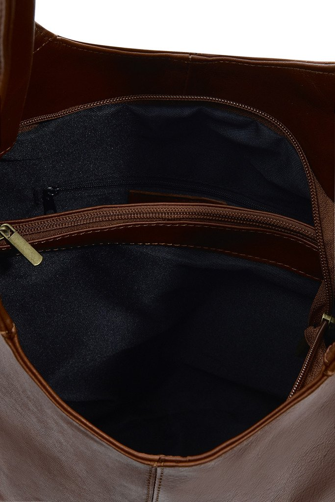 Montte Di Jinne – | 100 % mjukt italienskt läder | Slouch axelväska | Present till kvinnor | Mörkgrått