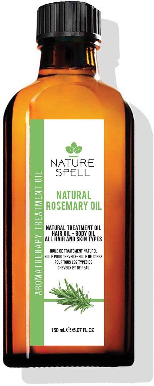 Nature Spell - Aceite de romero para el cabello y el cuerpo, 150 ml