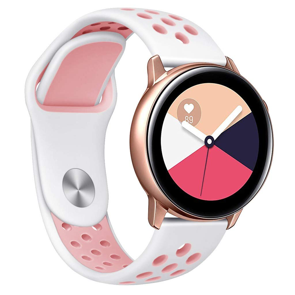 HOT Sale!!! for Samsung Galaxy Watch Active - Silicone Wrist Watch Bands Texture Bracelet Band for Gifts