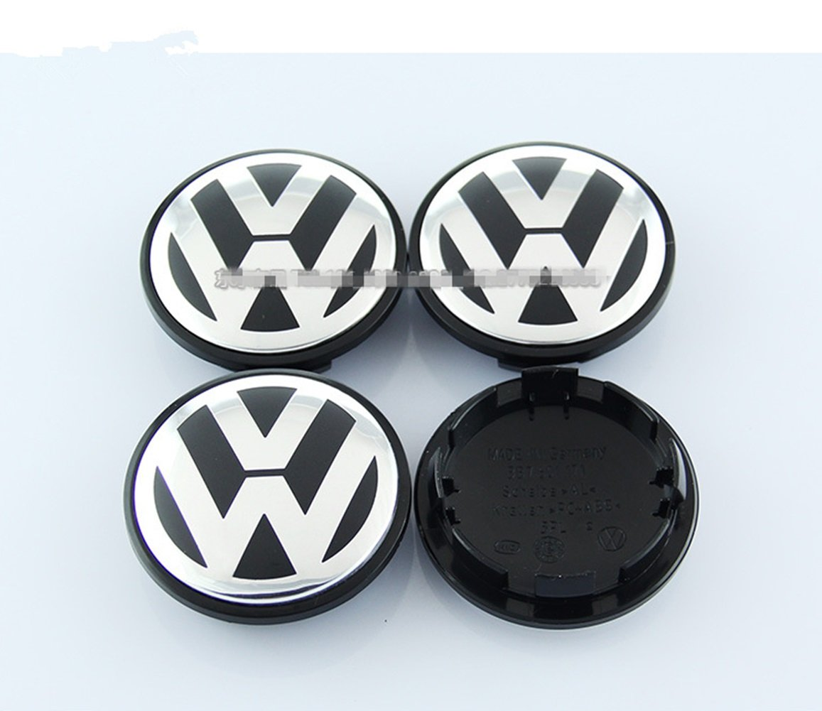 Automelody 4 Pieces A Set Of Wheel Center Hubcap Caps For Volkswagen VW (65mm)
