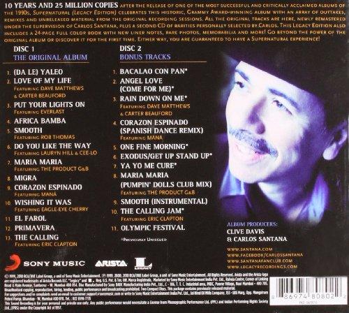 Santana - Supernatural (Legacy Edition) - Amazon.com Music