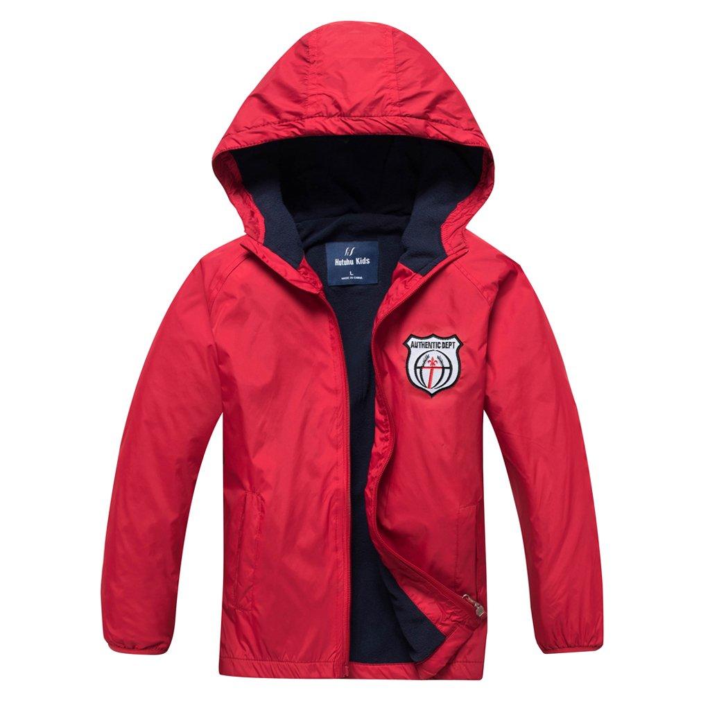 Meeyou Boys & Girls Raincoat, Waterproof Rain Jacket with Hood for Outdoor