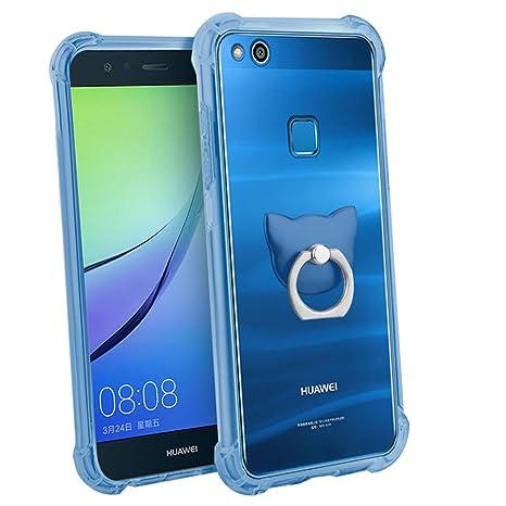 coque huawei p10 lite bleu transparent