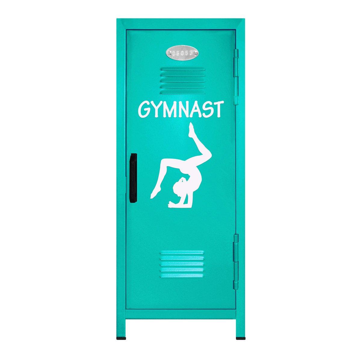 Teal/White Gymnastics Mini Locker Gift