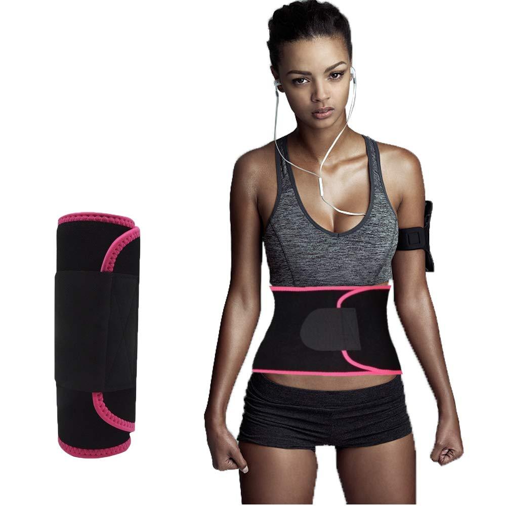 Waist Trimmer,Waist Wrap Waist Trimmer for Women Ab Belt Waist Trainer Adjustable Waist Trimmer Belt for Men Sauna Suit to Loose Weight and Keep Fit(Red)