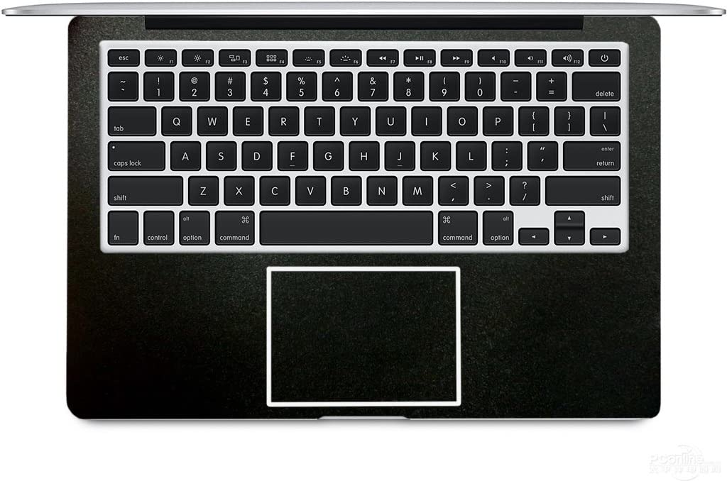 "2-Pack BingoBuy Customized Free Cut Palm Rest Palmrest Vinyl Sticker w/Touchpad Trackpad Sticker for 13.3"" MacBook pro with Retina Model: A1425 or A1502 (Matte Black)"