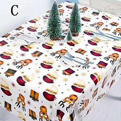 Eroihe Mantel Desechable Mesa de Fiesta Decoración de Mesa Navidad ...