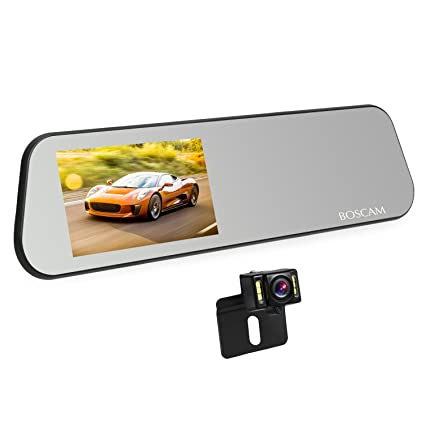 Amazon Com Boscam Touch Screen Backup Camera Mirror Dash Cam