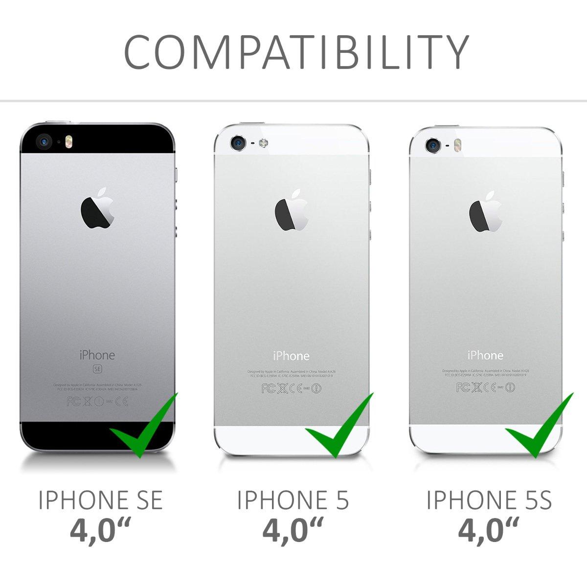 Backcover Giallo//Rosso//Trasparente Back Case Custodia Posteriore in Silicone TPU per Smartphone 5S kwmobile Cover per Apple iPhone SE 5