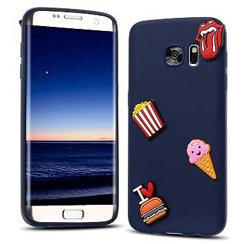 RosyHeart Coque Samsung S7 Edge, Galaxy S7 Edge Souple Silicone Coque, 3D  Mode Etui 884dc52a80d2