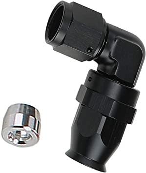 EVIL ENERGY AN6 6AN Straight PTFE TEFLON E85 Hose End Oil Fuel Line Fitting Adapter Black