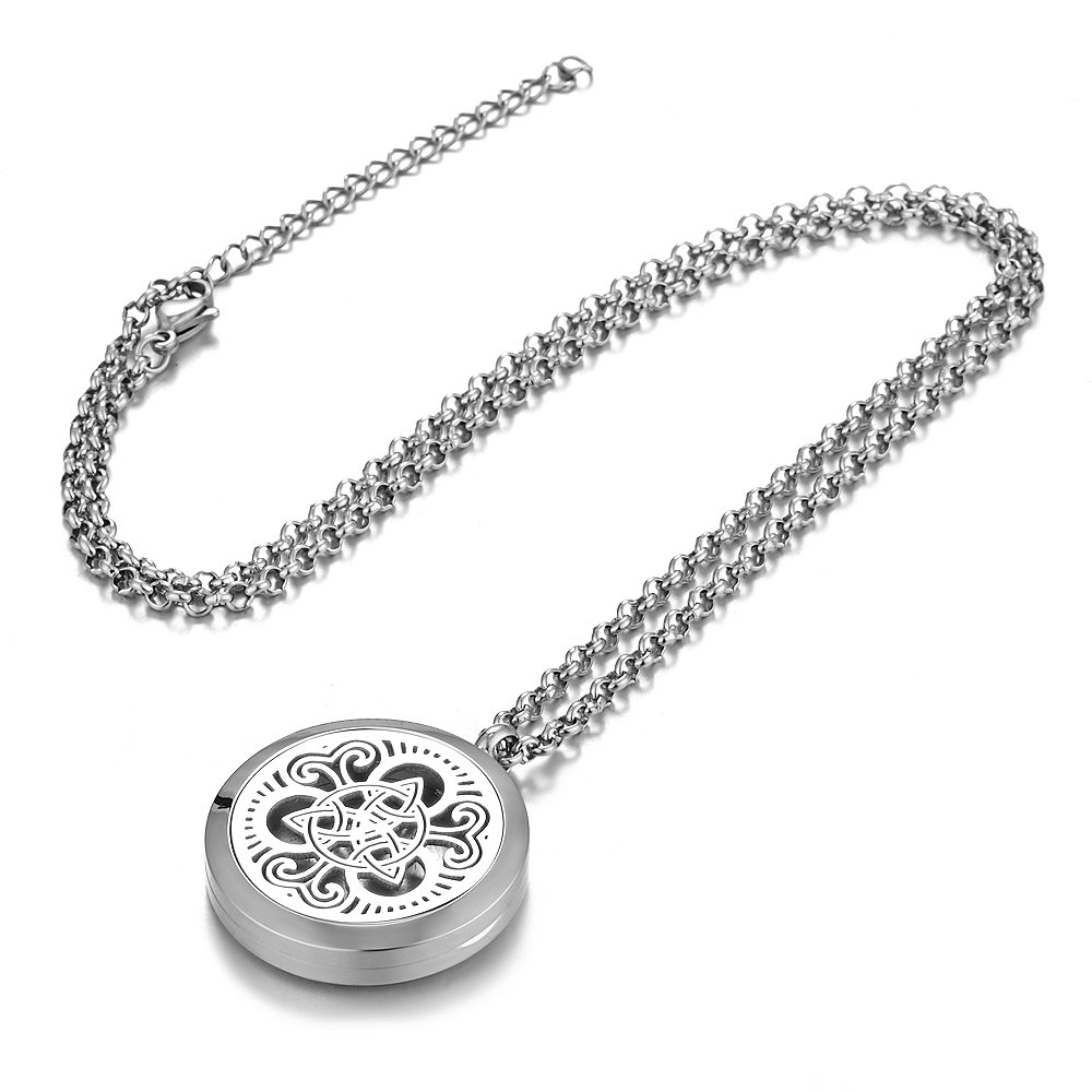 Vocheng Wholesale Aromatherapy Diffuser Locket Necklace 316L Stainless Steel VA-332 Pack of 10pcs