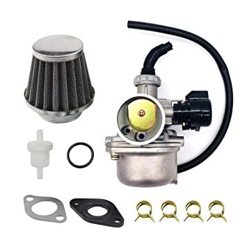 karbay atv carburetor pz19 with fuel filter & 35mm air filter for 50cc 70cc  90cc 110cc