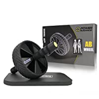 POWER GUIDANCE - Roue Abdominale AB Wheel Roller Pro de Fitness et Musculation de Corp-Appareil Abdominal Munit d'Un Tapis Epais pour Genoux