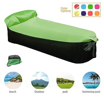 Newtendency Silla Hinchable con Bolsa de Transporte Portátil, sofá Camas de Aire Portátiles para Dormir, sofá para Viajar, Camping, Playa, Parque, ...
