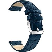 Becoler Banda de reloj de reemplazo de correa de cuero para Samsung Gear S3 22MM