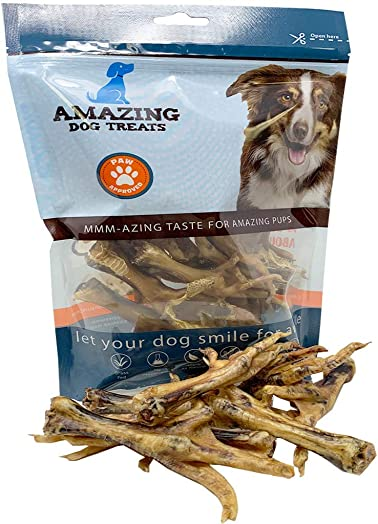 Chicken Feet Dog Treats 12, 25, 50,100, 200 Count – Made in USA – All Natural Chicken Feet for Dogs American Grade Chicken Feet Dog Chew Bones
