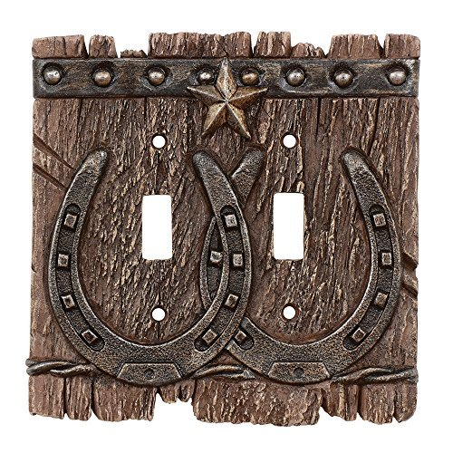 Western Ranch Double Switch Plate by Black Forest Decor