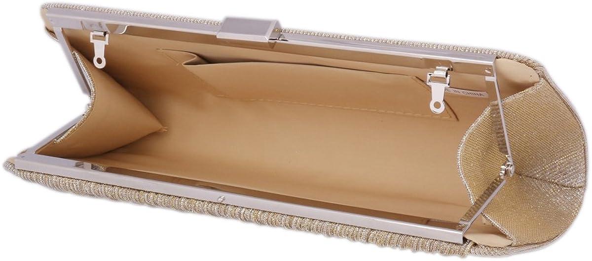 Damara Prom Wrinkle Long Clutch Women Evening Bag Snap Clasp