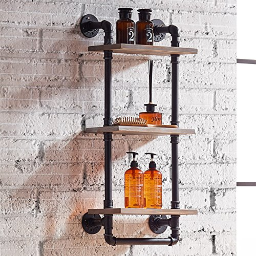 Retro Industrial Wind Wood And Pipe Wall-Mounted Shelves Clapboard Shelf Bathroom Accessories Towel Storage  sc 1 st  Tamu Kitani : wall mounted towel storage rack  - Aquiesqueretaro.Com