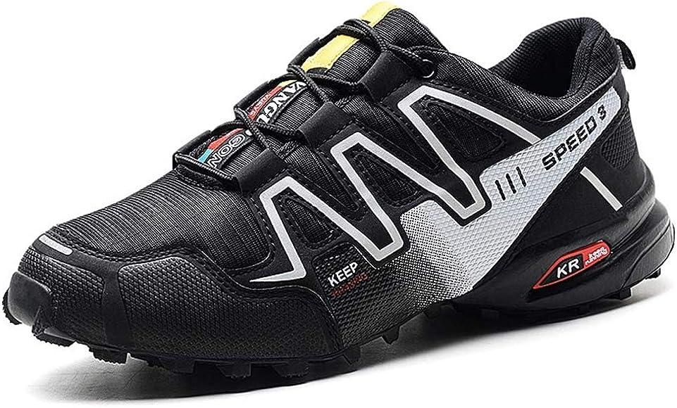 Zapatos de senderismo para hombre al aire libre verano baja cintura antideslizante amortiguación entrenamiento zapatos acampar deportes Trail Running zapatos,Black,39: Amazon.es: Ropa y accesorios