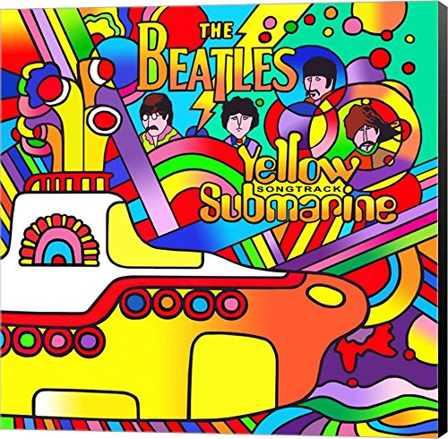 Yellow Submarine by Howie Green Art Wall Picture,