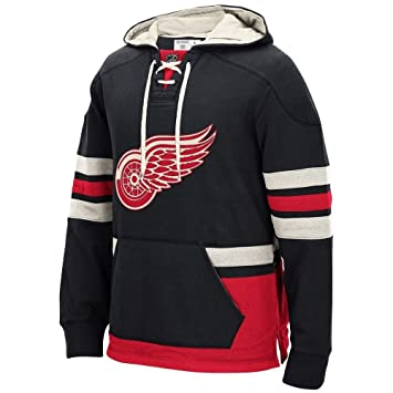 CCM Detroit Red Wings retro LACE Up sudadera con capucha NHL Jersey-camiseta de colour negro negro Talla:small: Amazon.es: Deportes y aire libre