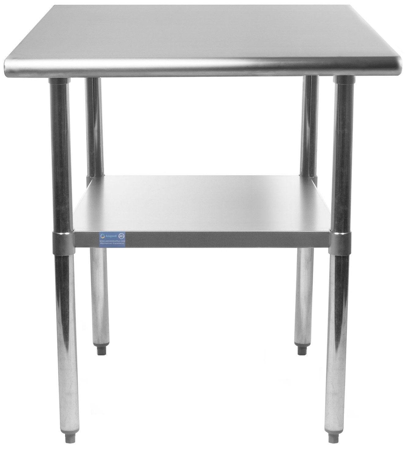 30'' X 12'' Stainless Steel Work Table with Under-Shelf | NSF Certified | Kitchen Island Food Prep | Laundry Garage Utility Bench