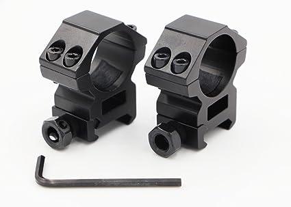 Schwarz Zielfernrohr Montage Ring Adapter 25.4mm Weaver Picatinny Schiene Jagd