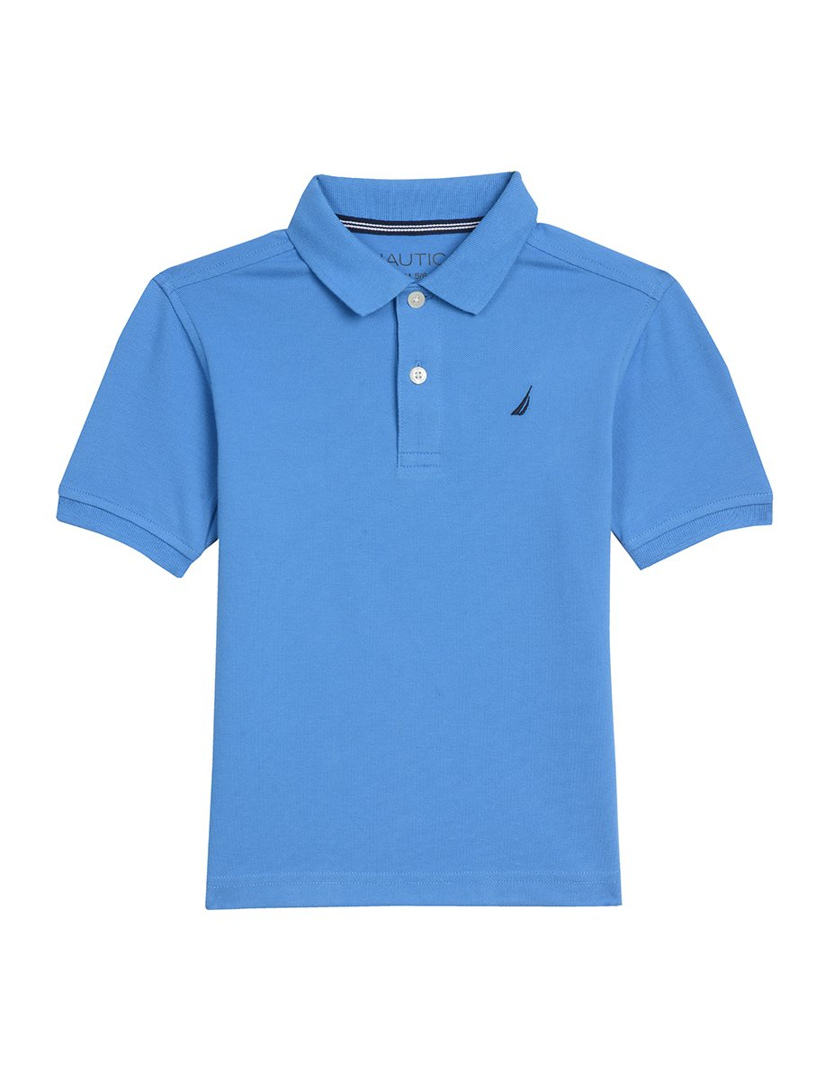Nautica Boys Short Sleeve Deck Polo with Stretch