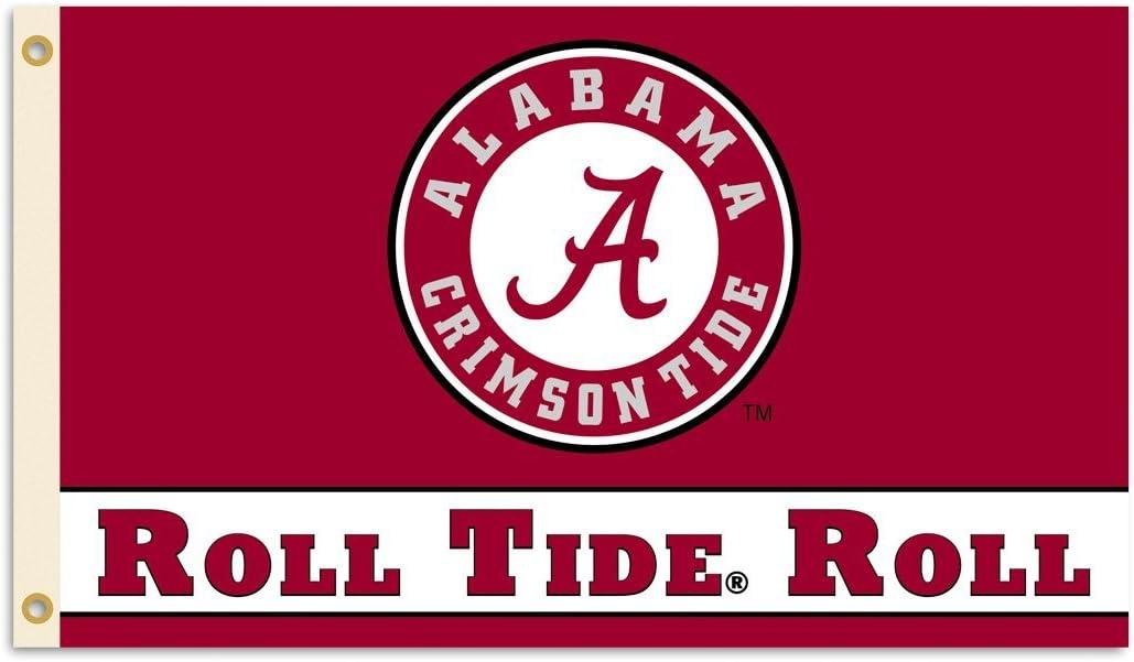 "BSI NCAA College Alabama Crimson Tide ""Roll Tide"" 3 X 5 Foot Flag with Grommets"