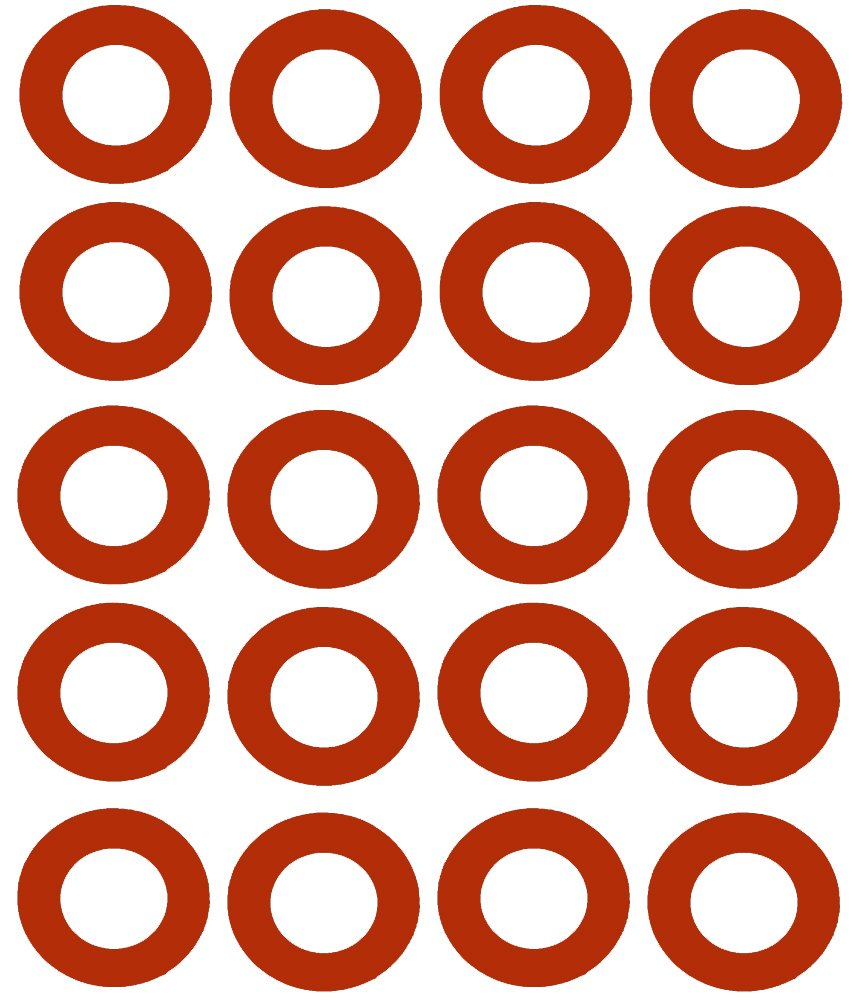Sterling Seal CRG7237.1500.125.150X20 7237 Red Rubber Ring Gasket, 1.91'' ID, 1-1/2'' Pipe Size, 1/8'' Thick, Pressure Class 150# (Pack of 20) by Sterling Seal & Supply, Inc. (STCC)