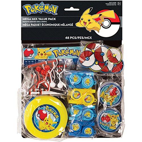 Amscan Pokemon Mega Mix Value Pack, Party -