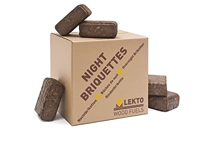 Cool Lekto Night Briquettes | Long Slow Burn up to 8 Hours | Overnight HK79