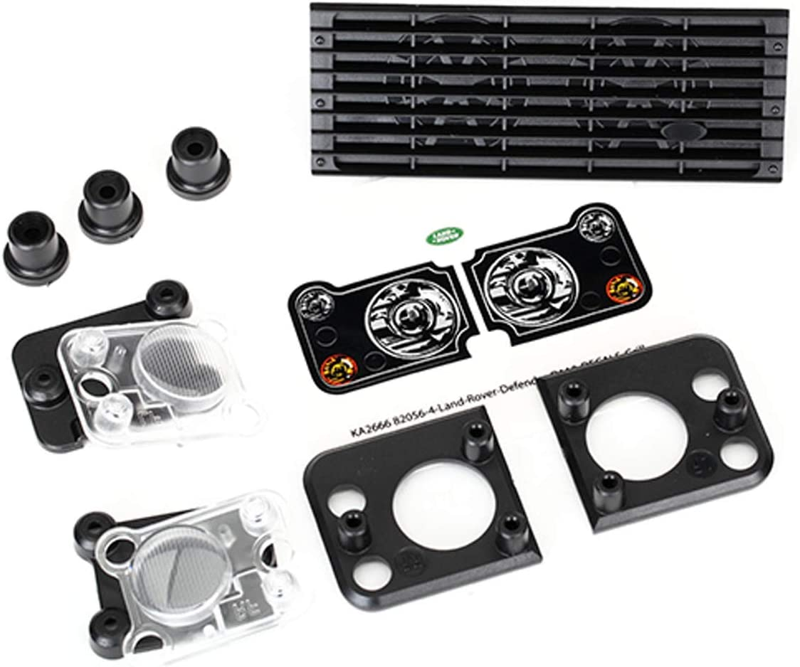 Compatible avec # 8011/Corps Traxxas 8013/Land Rover Defender Grill//Phare bo/îtier//Objectif//Mounts