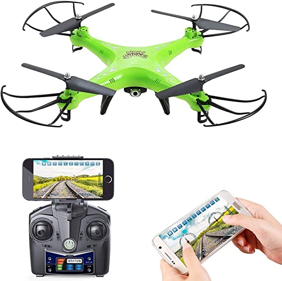 Holy Stone HS110 FPV RC Drone with Camera 720P HD Live Video WiFi 2.4GHz 4CH 6-Axis Gyro RC Quadcopter with Altitude Hold