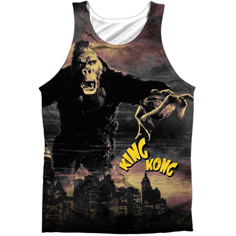 King Kong 1933 Horror Movie Destroying New York Front Print Tank Top Shirt